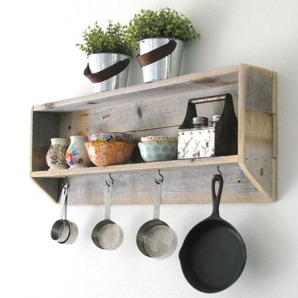 Rustic Tea Shelf